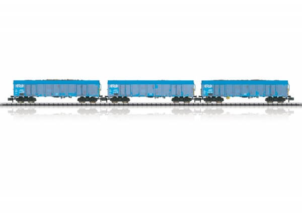 "Minitrix 15994 Güterwagen-Set ""Holzhackschnitzeltransport"" Ealnos"