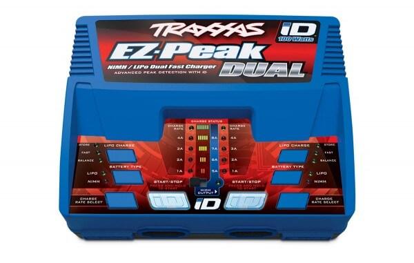 TRAXXAS® 2972G EZ-Peak DUAL 8-amp NiMH/LiPo Schnellladegerät mit iD™
