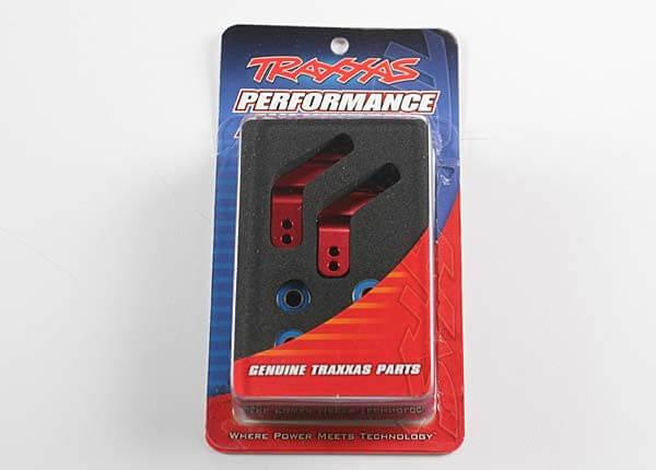 TRAXXAS® Achshalter hinten 2 Stück aus Aluminium in rot