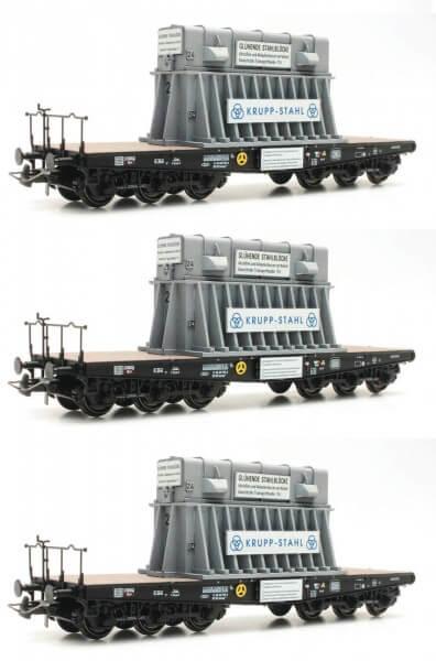 Roco 76157 3-teiliges Set Schwerlastwagen Heißbrammenhauben