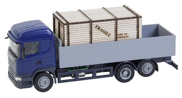 Faller 161597 Car System LKW Scania R 13 HL Pritsche mit Holzkiste (HERPA)