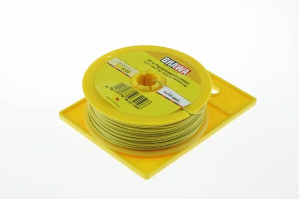 BRAWA 3210 Litze für digitalen Einsatz, 0,25 mm², 25-m gelb