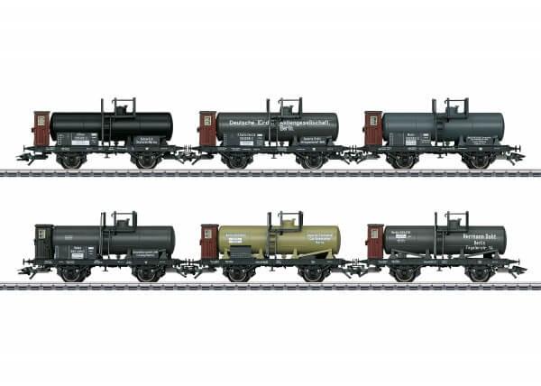 Märklin 46084 Oldtimer-Kesselwagen-Set mit Bremserhaus
