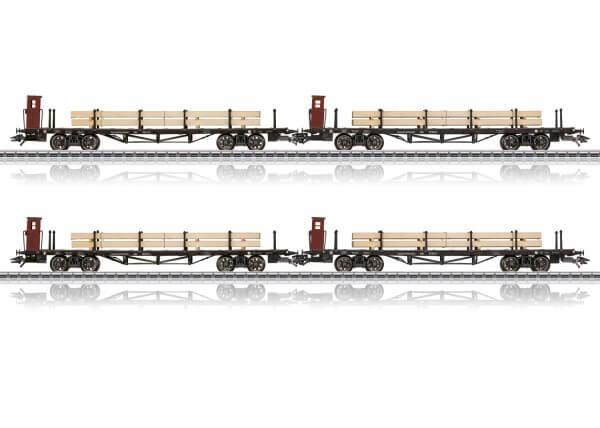 Märklin 46287 Vier SSml Flachwagen bayerischer Bauart