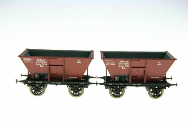 BRAWA 48790 Kohletrichterwagen-Set Mainz 831 + 1018 der DRG