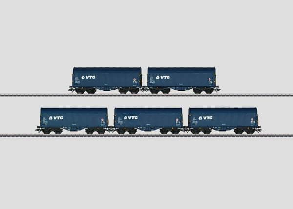 Märklin 47203 Güterwagen der Bauart Shimmns der VTG AG