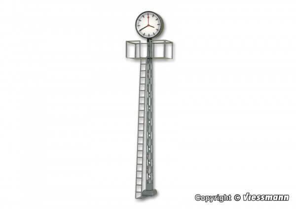 Viessmann 5081 Beleuchtete Bahnhofsuhr auf Gittermast, LED weiß, Höhe: 70 mm
