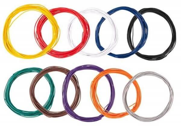 Faller 163780 Litzensortiment 0,04 mm², 10 Farben zu je 10 m