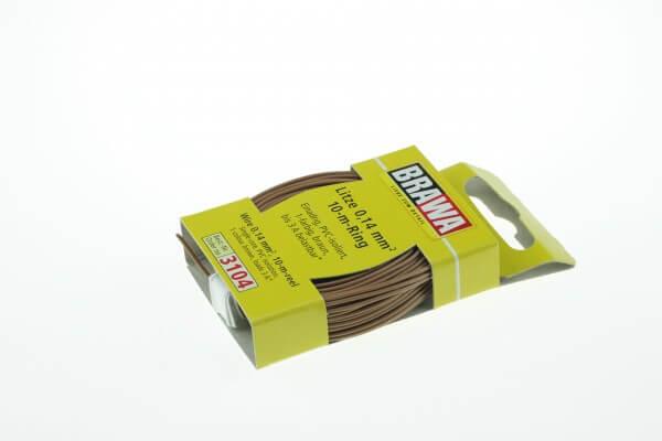BRAWA 3104 Litze 0,14 mm², 10-m, braun