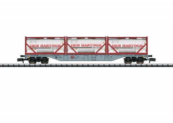 Minitrix 15537 Containertragwagen der Bauart Sgns der AAE
