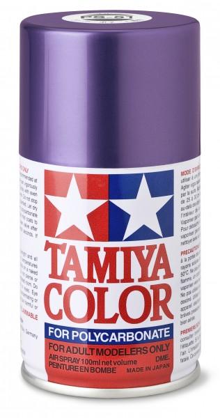 TAMIYA 300086051 PS-51 Aluminiumeffekt Lila Polycarbonat 100ml